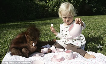 Orangutan and Emily Teaparty